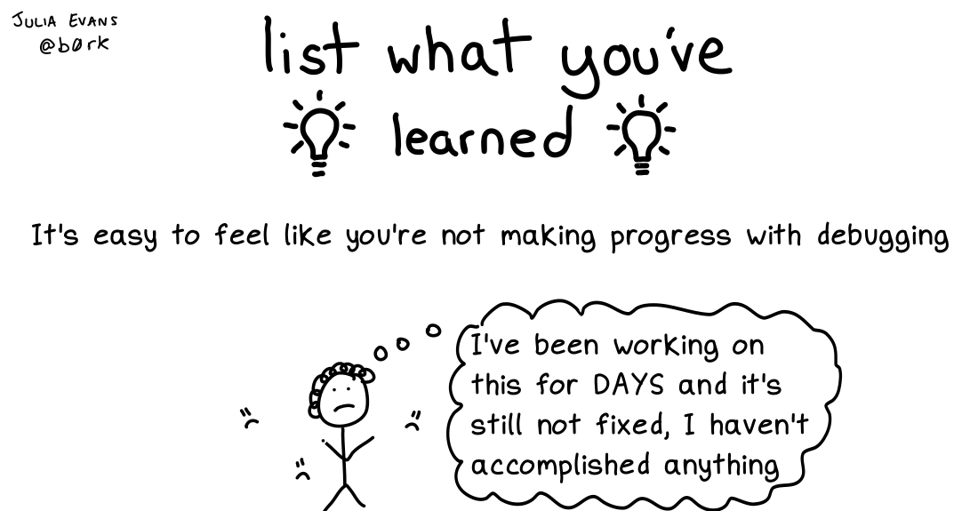 list what you've learned